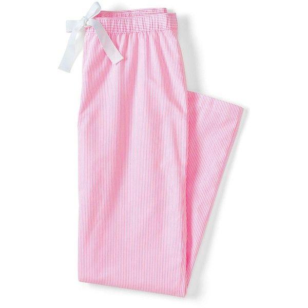 Lands' End Women's Oxford Sleep Pants ($45) ❤ liked on Polyvore featuring intimates, sleepwear, pajamas, lands end pjs, lands' end, lands end oxford, lands end pajamas and lands end sleepwear