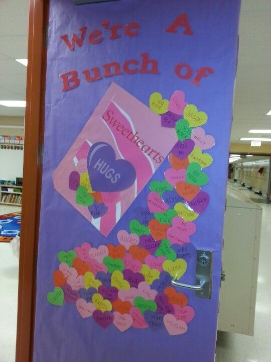 Valentines day door classroom door ideas valentine 39 s day for B day decoration