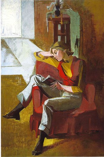 Francoise Gilot (French b.1921), The Red Vest. 1955