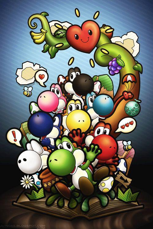 Colorful Yoshis! @Noémie L plein de petits yoshi !