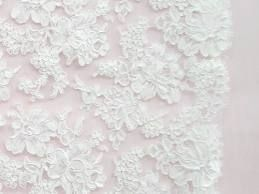 white bridal lace fabric -