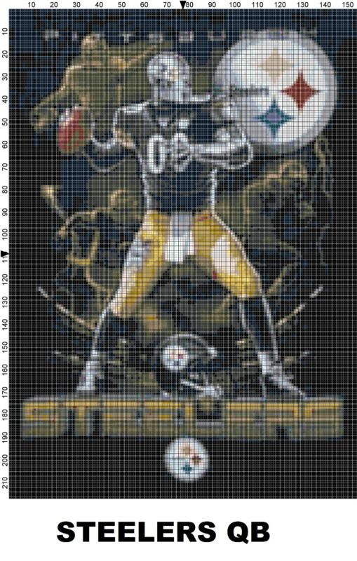 NFL Pittsburgh Steelers Mascot cross stitch pattern