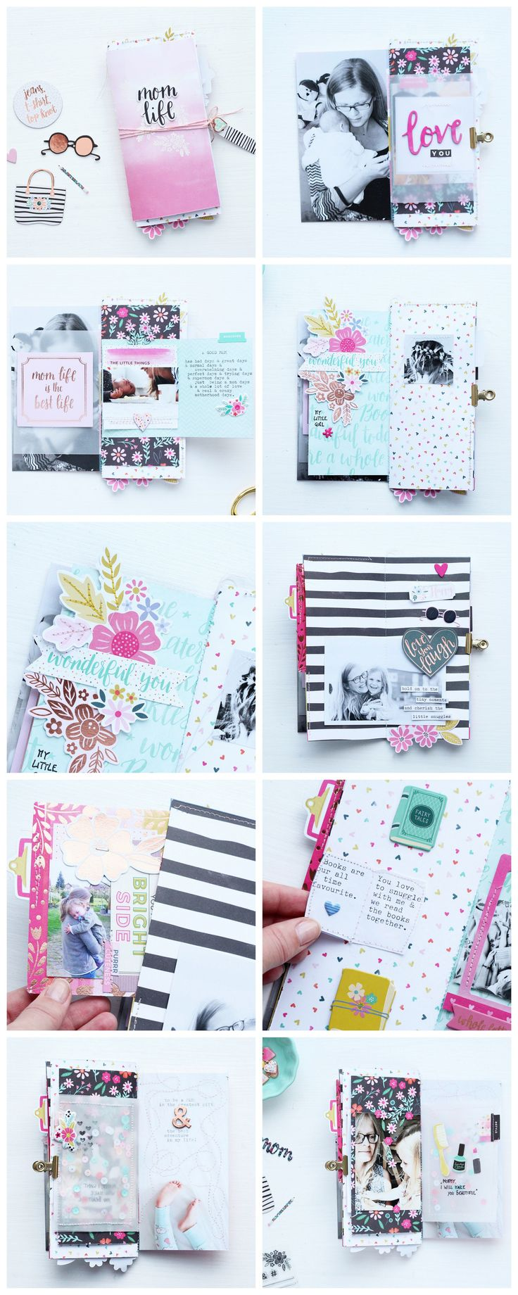 Mom Life #minialbum by @steffiried using Oh My Heart #scrapbooking collection by @paigeevans for @pinkpaislee
