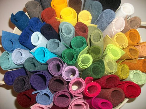 Wool Felt  sheets pack of 20 any colors 9 x 12 by shoppe3130, $16.00