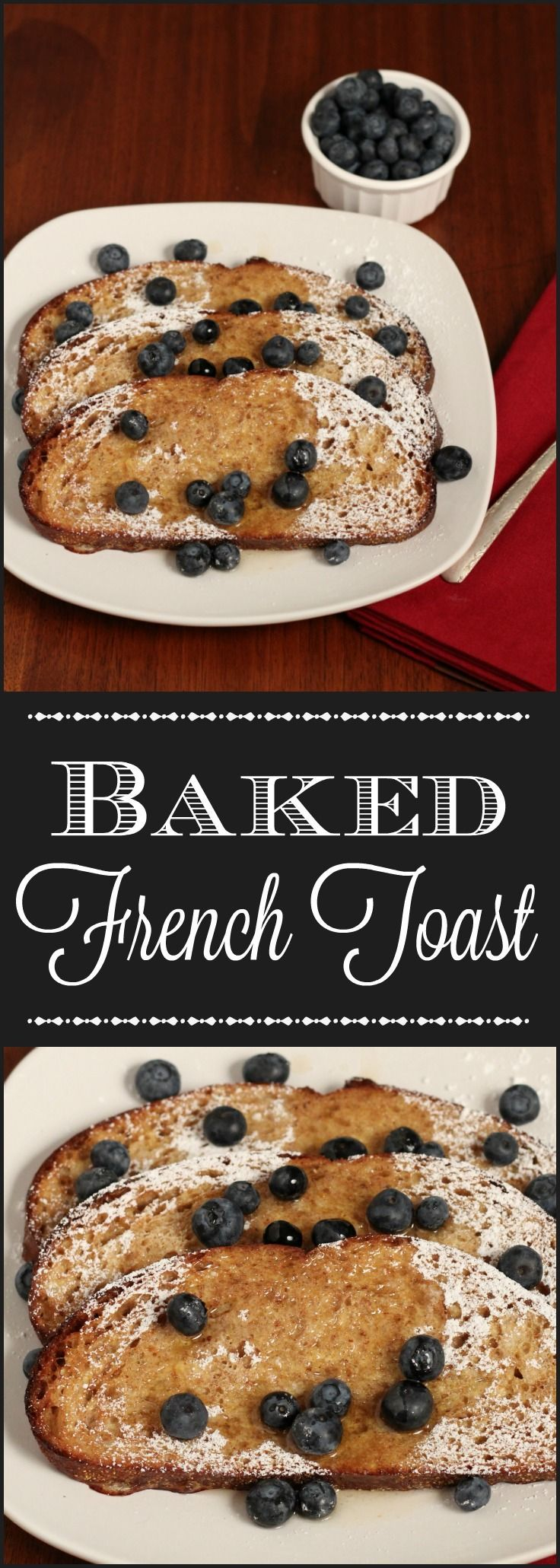 Baked French Toast with Blueberries - one of my favorite for a special breakfast or brunch. Enjoy this recipe makeover with a healthy twist.