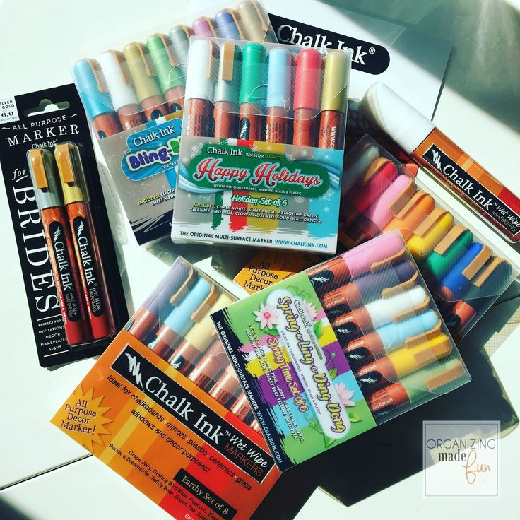 Huge variety of Chalk Ink Marker colors :: OrganizingMadeFun.com