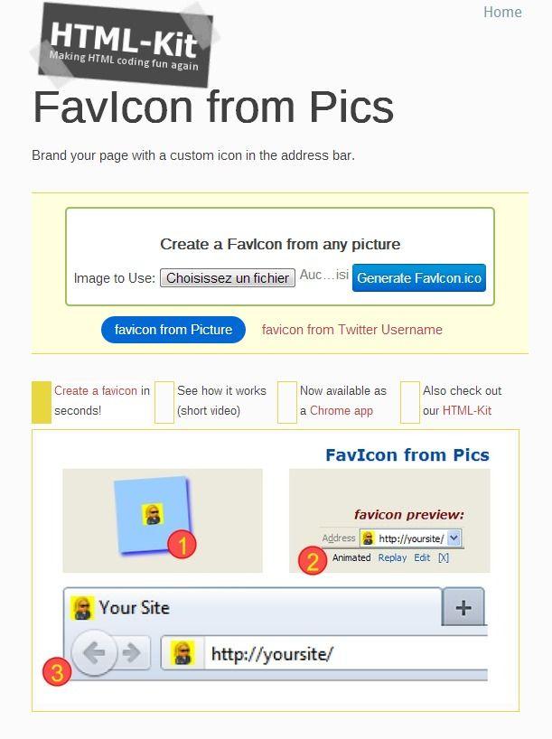 Favicon from Pics : création de favicon à partir d'images