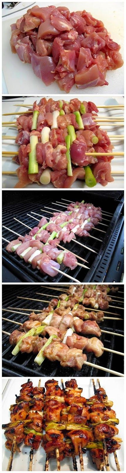 """Yakitori - Japanese Grilled Chicken   """"These Look Absolutely Yummy and Delicious!!"""""""