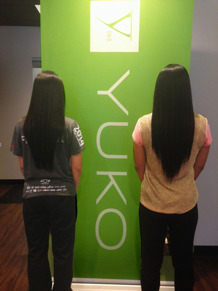 Double the Yuko Hair Straightening!  #yukohairstraightening #twins #Japanesehairstraightening #healthyhair #hair