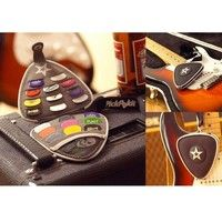 Wish | Guitar Bass Pick Cases Holder Black Triangle Necklace Wallet Bag for Guitarra Custom Picks Acessories Palheta