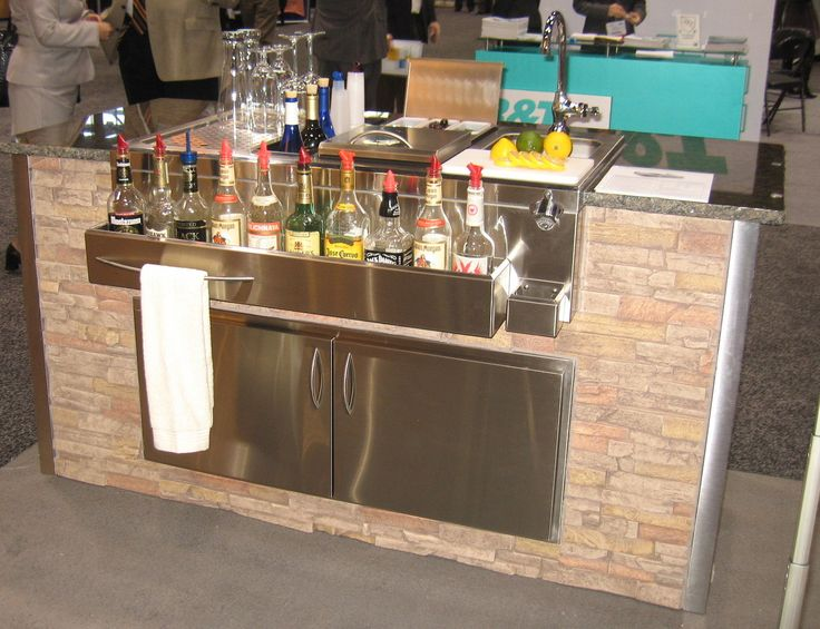 23 Incredible Diy Outside Bar Ideas: Outdoor Bar, Stainless Steel