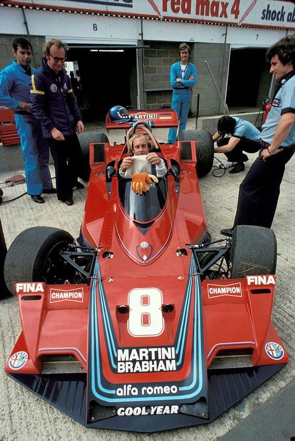 Hans-Joachim Stuck (GER) (Martini Racing), Brabham BT45B - Alfa Romeo 115-12 3.0 F12 (finished 5th) 1977 British Grand Prix, Silverstone Circuit © Schlegelmilch Photography
