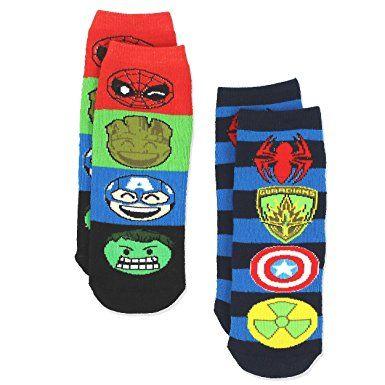 969e88f5404 Marvel Comics 2 pack Boys Teen Superhero Slipper Socks with Grippers ...