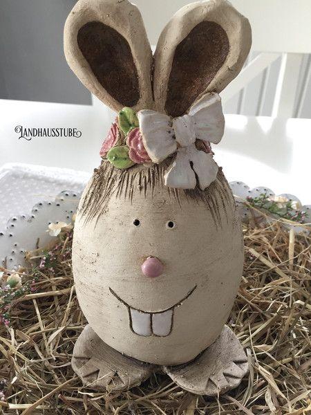 Osterdeko - Lustiger Hase - ein Designerstück von Dani11-72 bei DaWanda