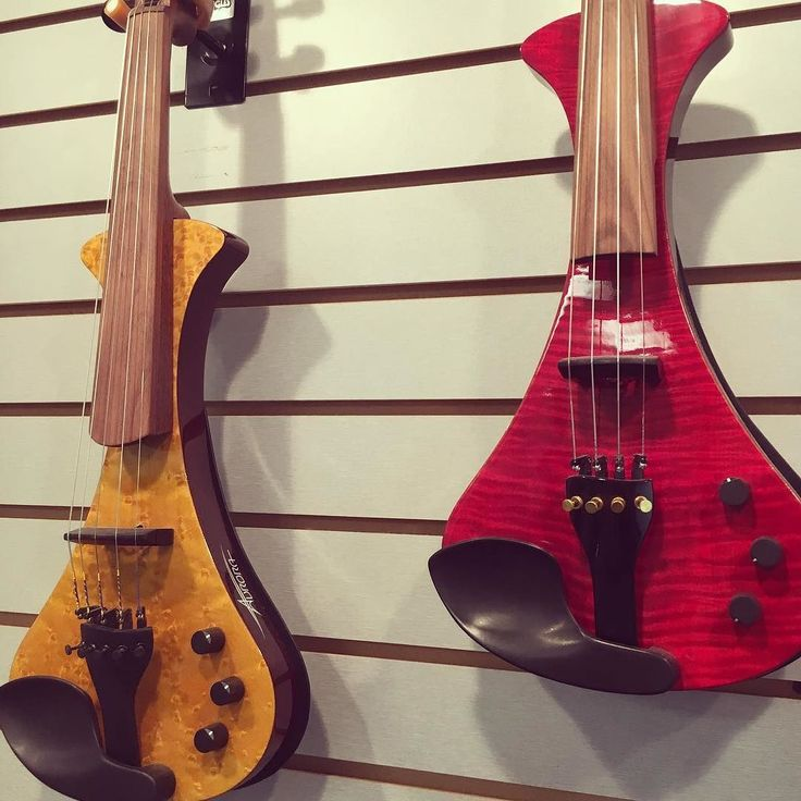 Two beautiful Aurora WS violins we have hanging here. This is the same @auroraviolins that makes the acrylic violins that have LED lights on board. . . These have that same warm sound but with a more traditional look and a friendlier price tag. Both the 4- and the 5- string versions are under $1000. . . #violin #violinist #violinplayer #instrument #violon #violine #violino #скрипка #skrzypce #fiddle #fiddleplayer #violinistsofinstagram #violinpostss #instaviolin #electricviolin…