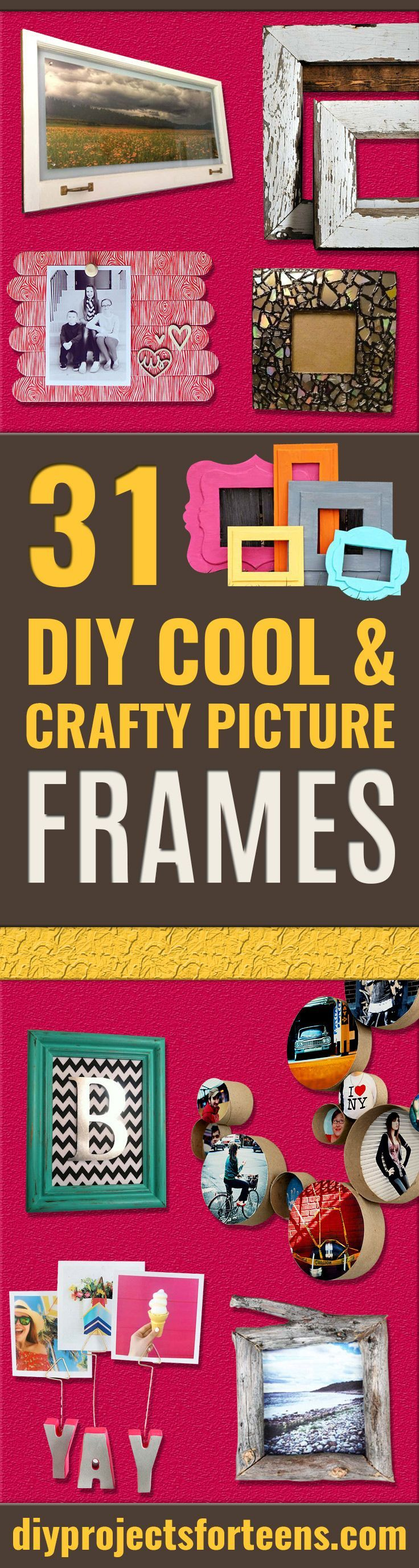 Best DIY Picture Frames and Photo Frame Ideas  - How To Make Cool Handmade Projects from Wood, Canvas, Instagram Photos. Creative Birthday Gifts, Fun Crafts for Friends and Wall Art Tutorials http://diyprojectsforteens.com/diy-picture-frames