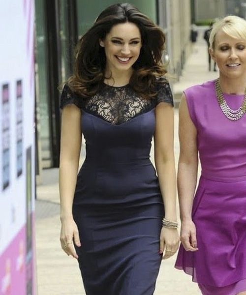 kelly brook - busty babe with wide hips. think she looks really good in bodycon dresses that emphasise her superb figure.
