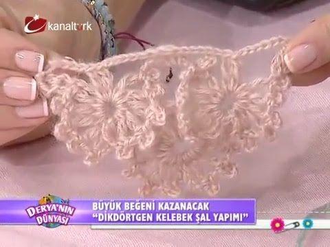 Dikdörtgen şal örme tekniği - Derya Baykal - Deryanın Dünyası - YouTube