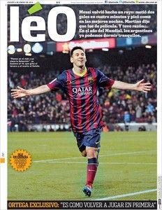 El diario Olé cambia su cabecera para homenajear a Messi
