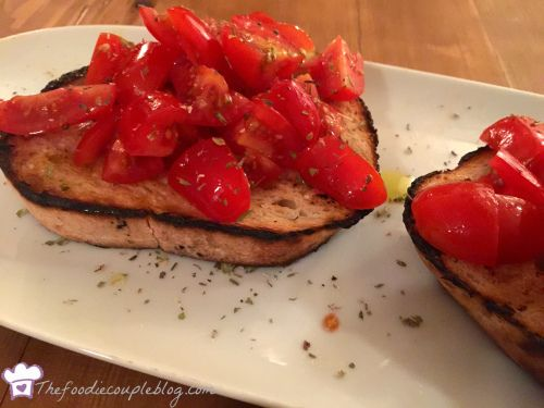 A classic bruschetta at Margheri Lichfield