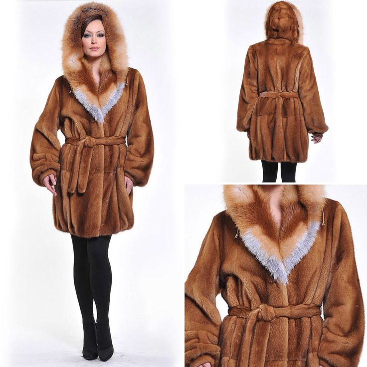 Welcoming 2017 in a golden mink fur coat with a fox hood.