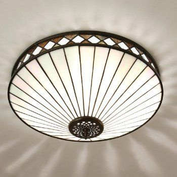 Interiors 1900 FARGO Tiffany Art Deco style flush ceiling light  £206.40 (FREE UK Delivery)