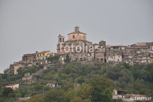 """Download the royalty-free photo """"Castel Madama, old village in the Metropolitan city of  Rome, Lazio region, Italy"""" created by Ciaobucarest at the lowest price on Fotolia.com. Browse our cheap image bank online to find the perfect stock photo for your marketing projects!"""