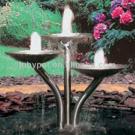 Matt Stainless steel fountain/modern outdoor fountains/outdoor water fountain