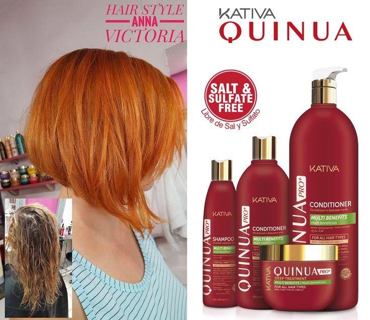 Θεϊκά μαλλιά με τις σειρές περιποίησης Kativa Natural. Κομμωτήριο HAIR STYLE Anna Victoria Η σειρά KATIVA QUINUA PRO ΔΥΝΑΜΗ ΚΑΙ ΔΙΑΤΗΡΗΣΗ ΤΟΥ ΧΡΩΜΑΤΟΣ είναι αυτό ακριβώς που υπόσχεται. Διατήρηση του χρώματος και προστασία στα βαμμένα μαλλιά χάρη στην καινοτόμο φόρμουλα με την οποία έχει σχεδιαστεί, προστατεύει την επιδερμίδα και σχηματίζει ένα προστατευτικό στρώμα στα βαμμένα μαλλιά. • Η σειρά KATIVA QUINUA PRO παρέχει τη λύση για τα βαμμένα μαλλιά, παρέχοντας δύναμη, φωτεινότητα και λάμψη…