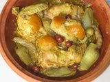 How Do You Use a Tagine? - Tips for Cooking in a Tagine. Place in cold oven, no more than 325 max, chicken requires 2 hours, beef & lamb up to four hours.