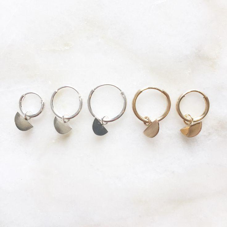 Scale charm earrings | Handmade jewellery | 14k gold filled & sterling silver