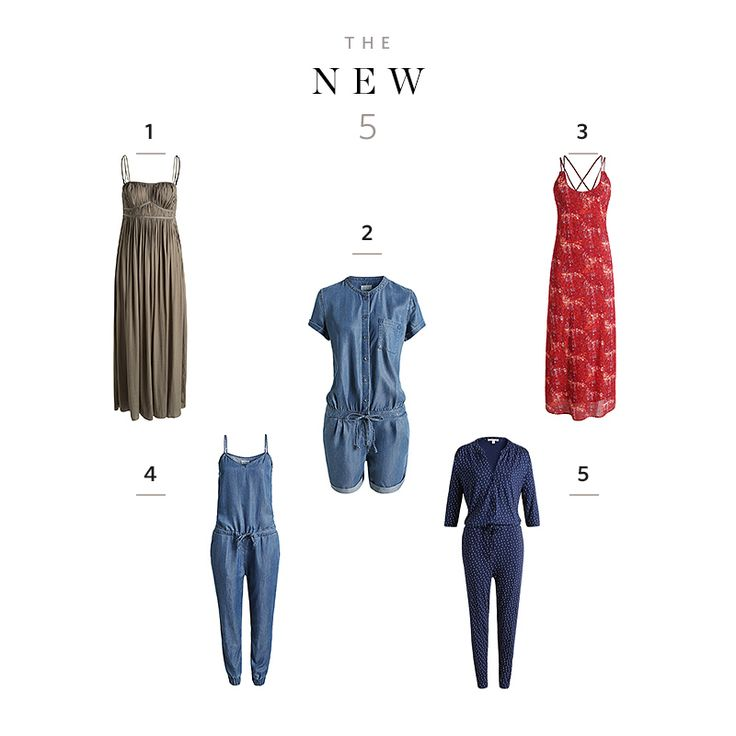 The New 5 – easy summer styles! Relaxed #Esprit #jumpsuit or maxi #dress - what would you go for?