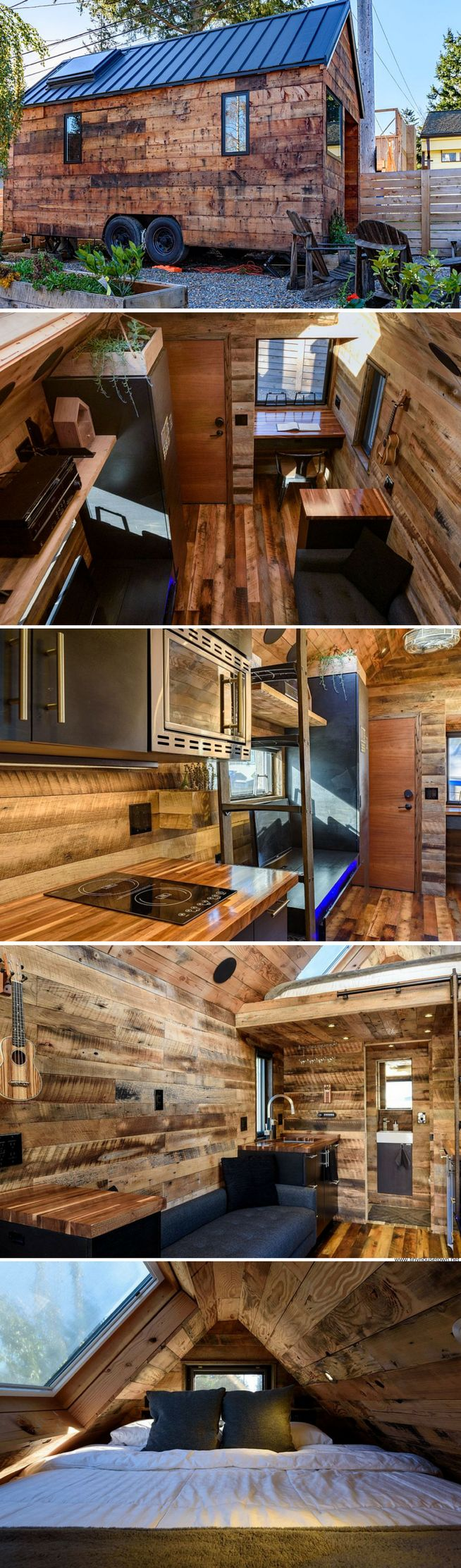 Bachelor 484 sq ft log home kit log cabin kit mountain ridge - The Tipsy Tiny House 180 Sq Ft