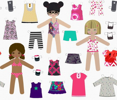 paper dolls fabric by katarina on Spoonflower - custom fabric