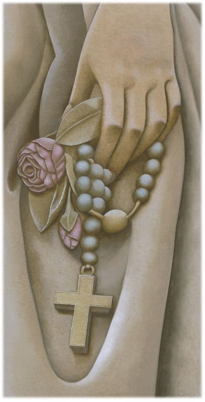 The Rosary - Let Our Faith Be Your Strength (oil painting on panel).