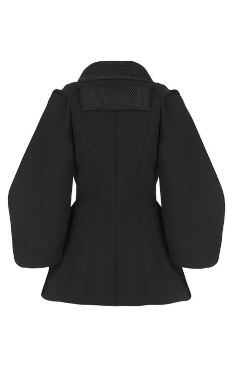 Black Oleander Jacket by Maticevski for Preorder on Moda Operandi