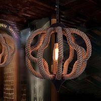 Северная Европа Американский Сельский Местности Железный Канат Исследование Люстра Бар Ресторан Кафе Промышленного Ретро Лампы Бесплатная Доставка