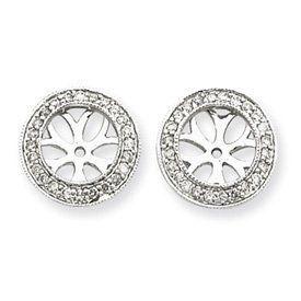 14k White Gold Diamond Earrings Jackets - JewelryWeb JewelryWeb. $726.80