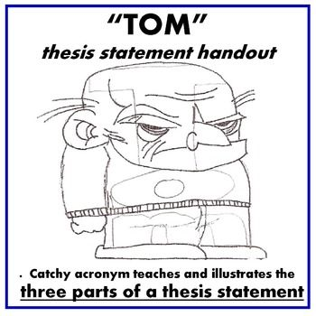 thesis statement has three parts
