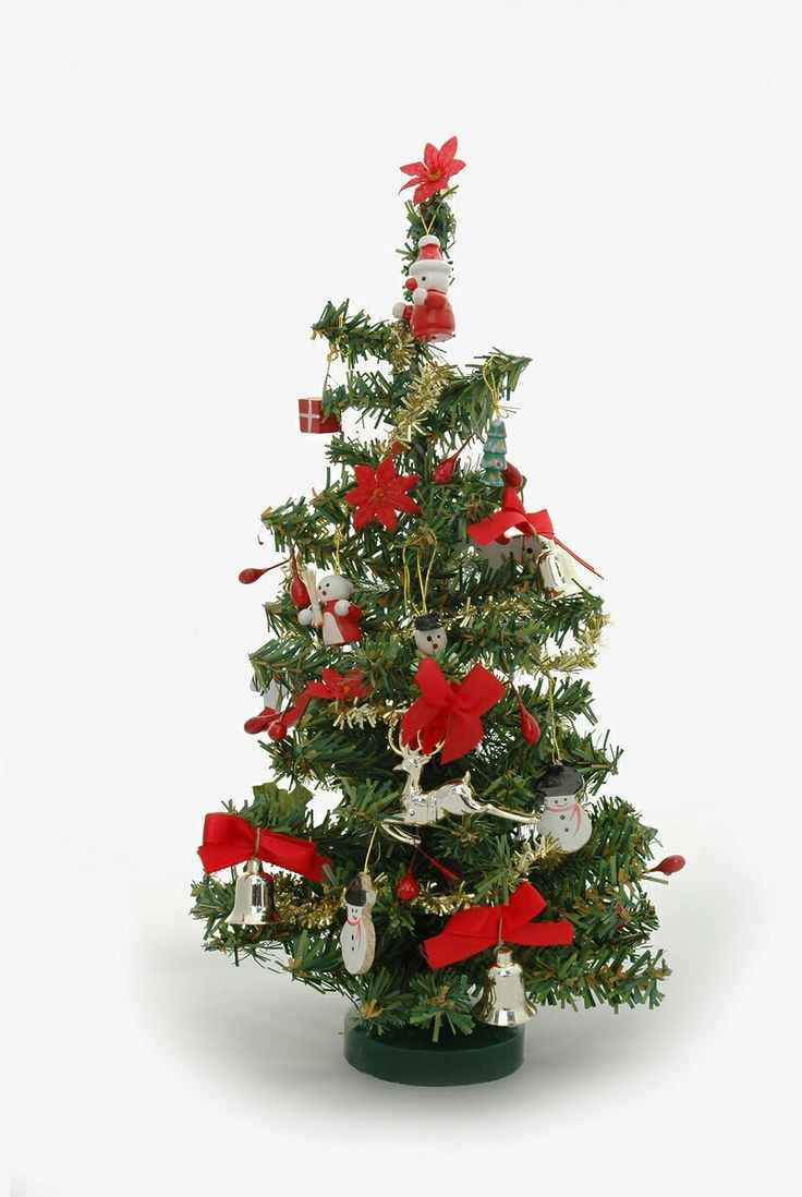 Crestwood small artificial christmas tree with plastic bronze pot - Tiny Miniature Trees Miniature Christmas Trees Are Becoming Popular