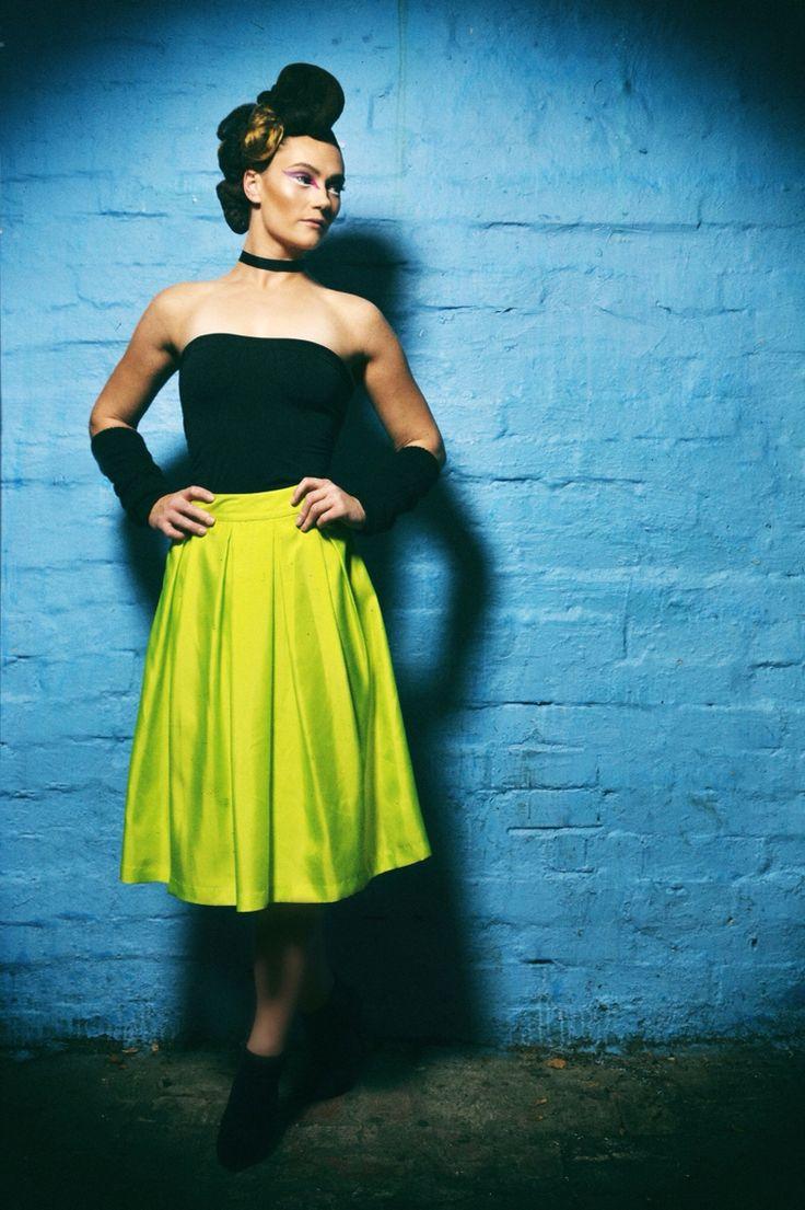 Always be adventurous.  DDP 100% Silk skirt #catchmeifyoucan in lemon-lime green $AU690  Made in Australia  #dontdopretty