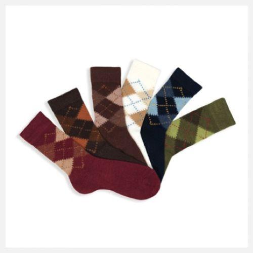 Cóndor   Classic Argyle Short Warm Socks at little green footprints