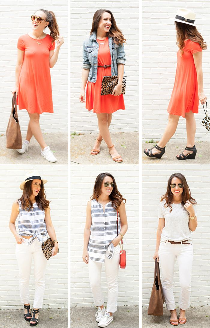 Summer Carry On Only Wardrobe For Spain: Summer Capsule Wardrobe: 10 Pieces, 12+ Outfits