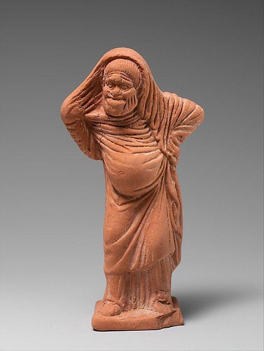 Terracotta statuette of an actor. Period: Late Classical. Date: late 5th–early 4th century B.C. Culture: Greek, Attic
