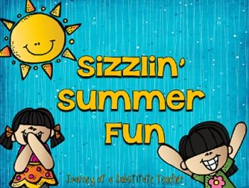 Fun activities for summer time learning fun. Includes: -Sun template to fill out after reading a book -Watermelon writing: What would happen if you swallowed a watermelon seed? -Ice cream inventor: Kids write what ice cream they would event -Ice cream craftivity: Kids write on ice cream cone and color
