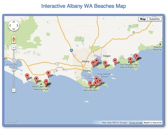 Albany Beaches Interactive Map All Of Albany39s Popular