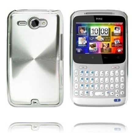 Alumiini Suojus (Hopea) HTC ChaCha Suojakuori