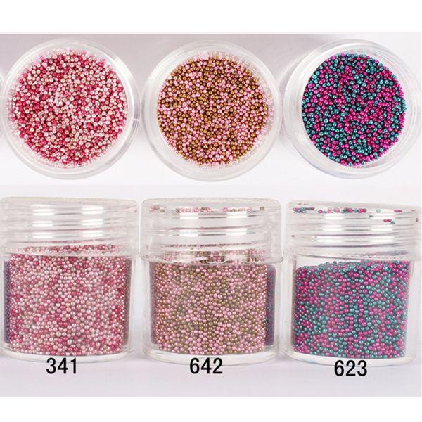 New Arrival 1 Box 10ml Pretty Color Caviar Beads Manicure 3D Steel Ball Glitter Nail Art Decoration