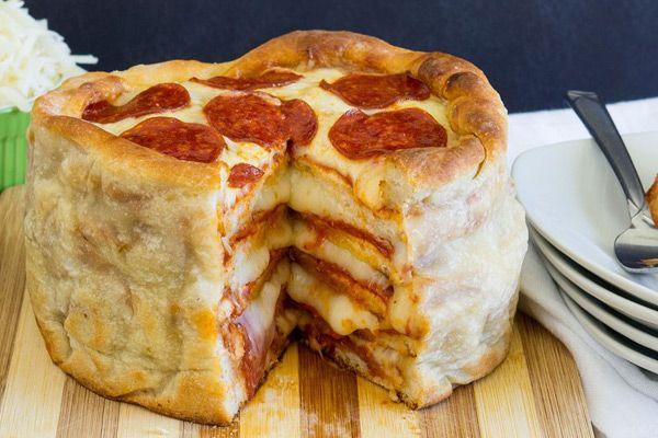 Συνταγή για πίτσα κέικ