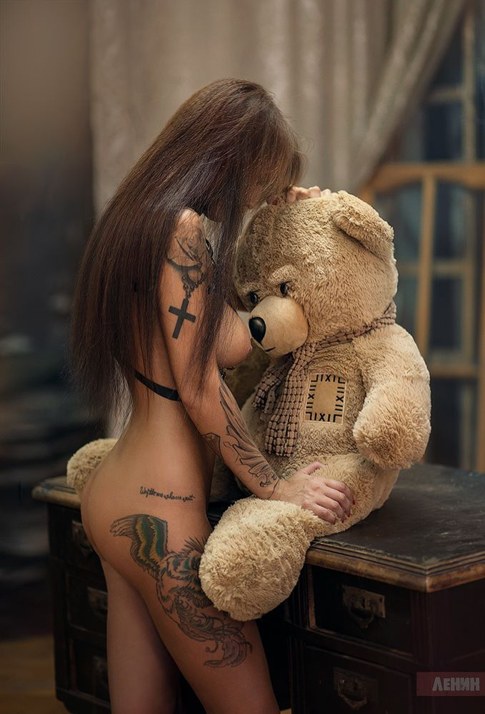 With teddy bear sex